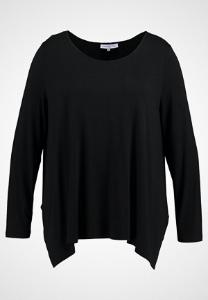 Anna Field Curvy T-skjorte, LONG SLEEVE SHIRT WITH ROUNDE Topper langermet black
