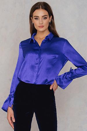 Rut&Circle skjorte, Maci Pleat Shirt blå
