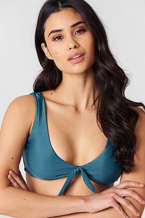 Hot Anatomy bikini, Tie Bikini Top grön