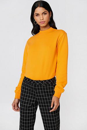 NA-KD Basic genser, Basic Sweater orange