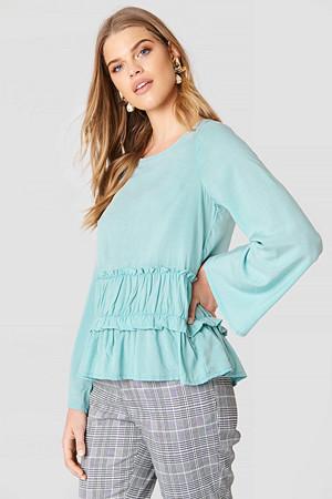 Rut&Circle bluse, Venda Waist Seam Blouse grön