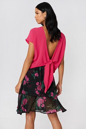 Rut&Circle bluse, Back Knot Blouse rosa
