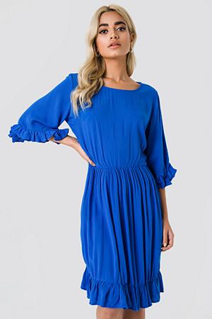 Trendyol kjole, Buttoned Back Midi Dress blå