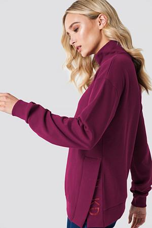 NA-KD genser, Slit Embroidery Sweatshirt lila