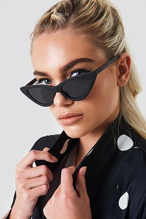 NA-KD Accessories solbriller, Pointy Cat Eye Sunglasses svart