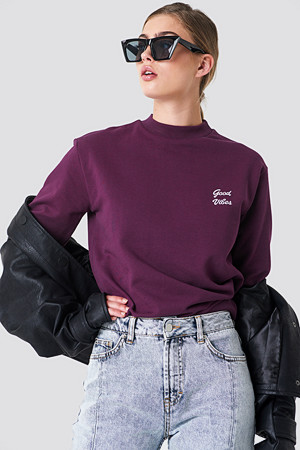 NA-KD genser, Good Vibes Sweatshirt lila