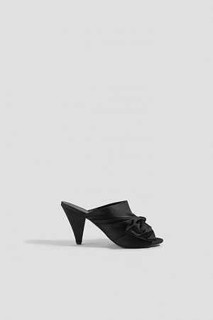 NA-KD Shoes pumps, Bow Detail Mule Heels svart