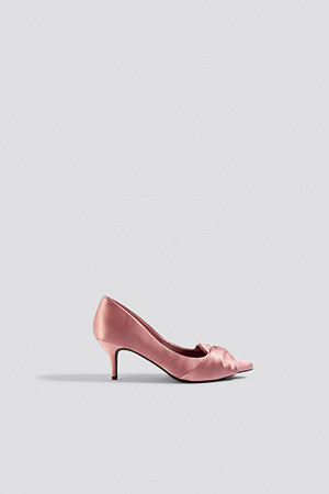 NA-KD Shoes pumps, Satin Court Shoes rosa