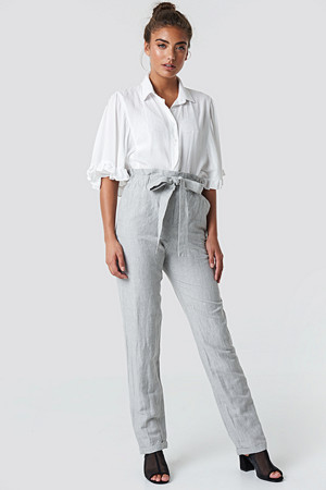 Mango bukse, Paper Trousers grå