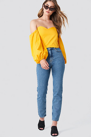 NA-KD Branded Jeans - Cropped & Ankle