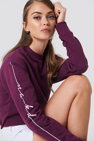 NA-KD genser, Branded Sweatshirt röd