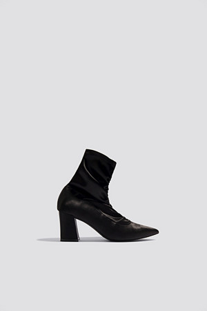 NA-KD Shoes pumps, Gathered Front Sock Boots svart
