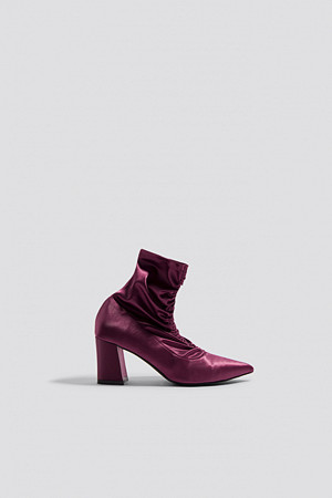 NA-KD Shoes Gathered Front Sock Boots lila