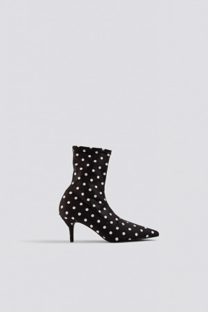 NA-KD Shoes pumps, Dotted Sock Boots svart