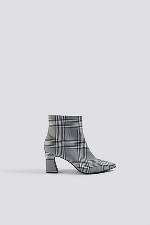 NA-KD Shoes pumps, Checked Ankle Boots grå