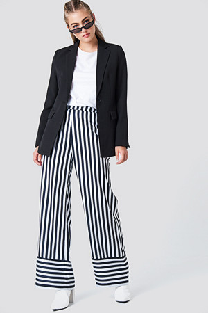 NA-KD bukse, High Waist Wide Striped Pants multicolor